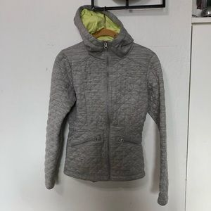 The North Face Quilted Hoodie Gray Jacket